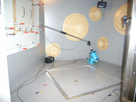 Photo of MR-1000 installed in a small reverberation room