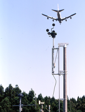 Photo of aircraft flight path measurement station