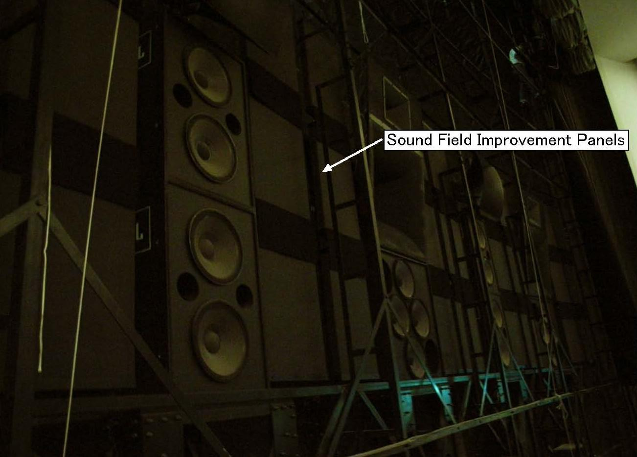 Installation example of panels for improving sound field