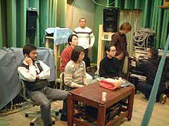音声編集室スピーカ角度検討試聴会(サラウンドスピーカ)