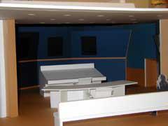 音声編集室模型