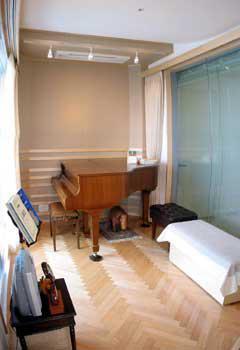 完成したバイオリン練習室