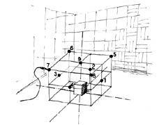 図7 平行六面体測定表面のマイクロホン配列