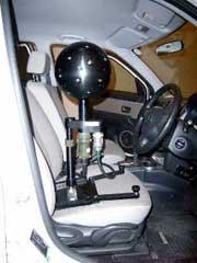 図4. Noise Visionセンサーの車両内での設置