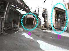 図9 CCDカメラでの画像と音源位置