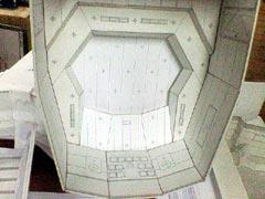 写真4-2 コントロールルーム天井模型
