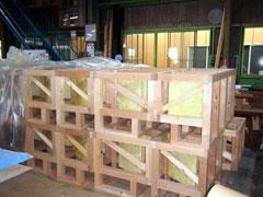 写真5 工場製作したAGS架台の下地