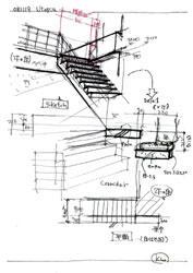 図4 計画中のスケッチ集...階段の検討