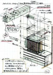 図4 計画中のスケッチ集...AGSの組立イメージ