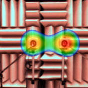 図3 2つのスピーカからの音を分析した例(4000Hz、通常の分析結果)