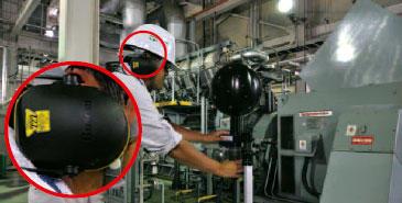 図1 ヘッドホン型防音保護具/拡大図
