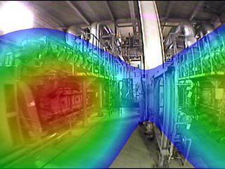 図3 自家発電施設建物内部での分析結果その1