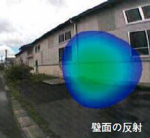 図6 敷地境界周辺分析結果その1・壁面の反射