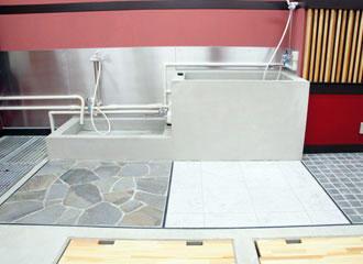 背の高さの異なる2つの水槽 Studio
